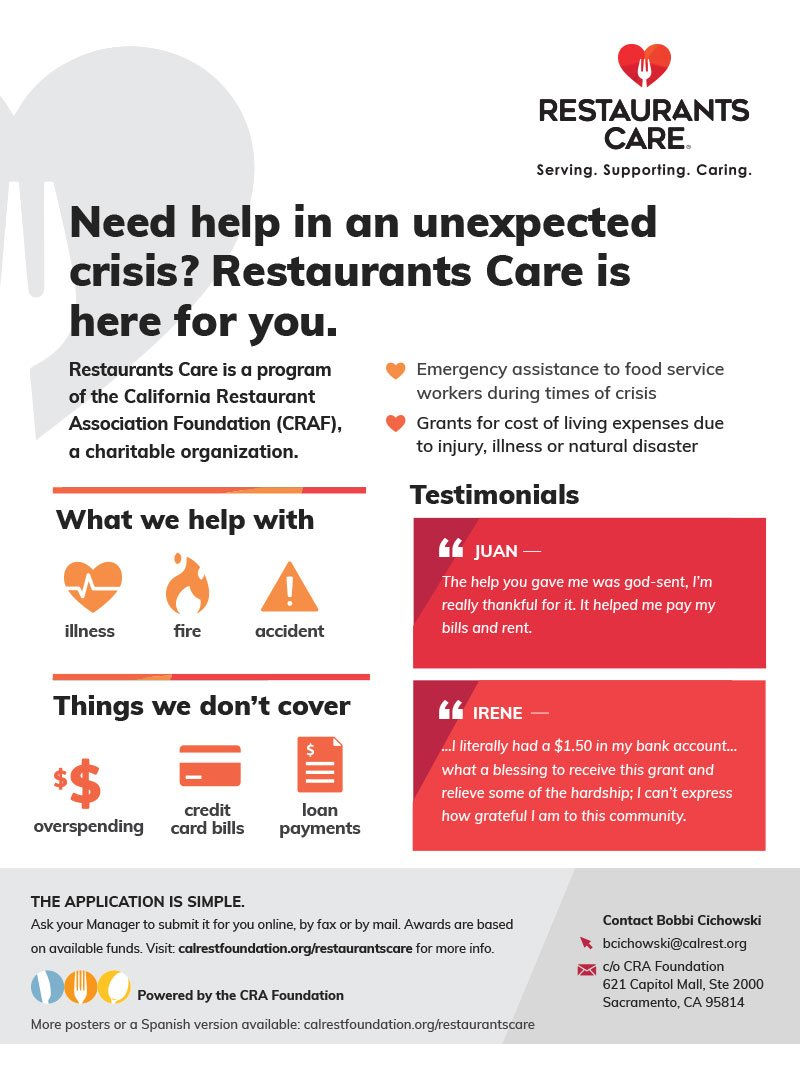 Restaurants Care Back of the House Poster