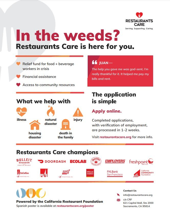 Restaurants Care Back Of House Poster